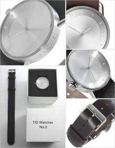 【3年保証対象】ティッドウォッチ腕時計TIDWatches時計TIDWatches腕時計ティッドウォッチ時計TIDNo.2レディース/シルバーTID02-SV36-W[革ベルト/おしゃれ/正規品/替え/北欧/アナログ/ダークブラウン/シルバー][送料無料]