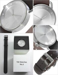 【3年保証対象】ティッドウォッチ腕時計TIDWatches時計TIDWatches腕時計ティッドウォッチ時計TIDNo.2メンズ/レディース/ユニセックス/男女兼用/シルバーTID02-SV40-W[革ベルト/おしゃれ/正規品/防水/替え/北欧/アナログ/ダークブラウン/シルバー][送料無料]