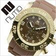 ヌーティッド 腕時計[ NUTID 時計 ]ヌーティッド 時計[ NUTID 腕時計 ]マット ブル MATT BULL メンズ/ブラウン N-1403M-E [正規品/デザイナーズウォッチ/ファッション/デザイン/人気/新作/流行/ブランド/防水/シリコン/ラバー/ゴールド/プレゼント/ギフト][送料無料]