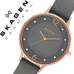 スカーゲン腕時計[SKAGEN時計]スカーゲン時計[SKAGEN腕時計]スカーゲン腕時計[SKAGEN時計]ア二タAnitaレディース/グレーSKW2267[人気/新作/流行/ブランド/防水/革ベルト/レザー/シンプル/北欧/薄型/ピンクゴールド/アニータ/プレゼント/ギフト][送料無料]