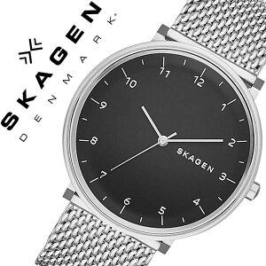 スカーゲン腕時計[SKAGEN時計]スカーゲン時計[SKAGEN腕時計]スカーゲン腕時計[SKAGEN時計]ハルドHALDメンズ/レディース/ブラックSKW6175[人気/新作/流行/ブランド/防水/メタルベルト/北欧/薄型/メッシュ/シルバー/プレゼント/ギフト][送料無料]