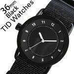 【5年保証対象】[ティッドウォッチズ]ティッドウォッチ腕時計[TIDWatches時計]ティッドウォッチ時計[TIDWatches腕時計]TIDNo.1レディース/ブラックTID01-BK36-NBK[NATOベルト/おしゃれ/インスタ/モデル/通販/北欧/ペア/ホワイト/ナトー][送料無料]