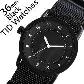 【5年保証対象】[ ティッドウォッチズ ]ティッドウォッチ 腕時計[ TIDWatches 時計 ]ティッド ウォッチ 時計[ TID Watches 腕時計 ] TIDNo. 1 レディース/ブラック TID01-BK36-NBK [NATO ベルト/おしゃれ/インスタ/モデル/通販/北欧/ペア/ホワイト/ナトー][送料無料]