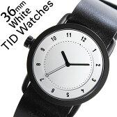 【5年保証対象】[ ティッドウォッチズ ]ティッドウォッチ 腕時計[ TIDWatches 時計 ]ティッド ウォッチ 時計[ TID Watches 腕時計 ] TIDNo. 1 レディース/ホワイト TID01-WH36-BK [革 ベルト/おしゃれ/インスタ/モデル/通販/北欧/ペア/ブラック][送料無料]