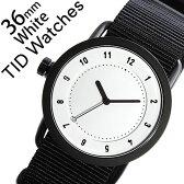 【5年保証対象】[ ティッドウォッチズ ]ティッドウォッチ 腕時計[ TIDWatches 時計 ]ティッド ウォッチ 時計[ TID Watches 腕時計 ] TIDNo. 1 レディース/ホワイト TID01-WH36-NBK [NATO ベルト/おしゃれ/インスタ/モデル/通販/北欧/ペア/ブラック/ナトー][送料無料]