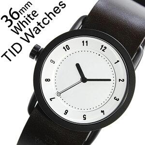 【5年保証対象】[ティッドウォッチズ]ティッドウォッチ腕時計[TIDWatches時計]ティッドウォッチ時計[TIDWatches腕時計]TIDNo.1レディース/ホワイトTID01-WH36-W[革ベルト/おしゃれ/インスタ/モデル/通販/北欧/ペア/ダークブラウン/ブラック][送料無料]