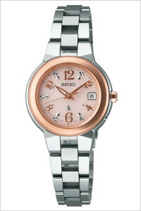 【5年保証対象】セイコー腕時計SEIKO時計SEIKO腕時計セイコー時計ルキアLUKIAレディース/ピンクSSQW016[メタルベルト/正規品/防水/ソーラー電波修正/シルバー/ローズゴールド][プレゼント/ギフト][送料無料]
