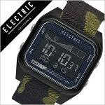 【5年保証対象】エレクトリック腕時計[ELECTRIC時計]エレクトリック時計[ELECTRIC腕時計]ED01-TNATOメンズ/レディースED1TN2-BKCM[ブランド/トレンド/デジタル/タイドグラフ/カモフラ/ミリタリー/サーフ/サーフィン/マリンスポーツ/防水][送料無料]