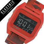 【5年保証対象】エレクトリック腕時計[ELECTRIC時計]エレクトリック時計[ELECTRIC腕時計]ED01-TNATOCAPTAINFINメンズ/レディースED1TT-TWINRD[人気/ブランド/ポリウレタン/デジタル/タイドグラフ/レッド/コラボ/サーフ/マリンスポーツ/防水][送料無料]