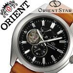 【5年保証対象】オリエント腕時計ORIENT時計ORIENT腕時計オリエント時計オリエントスターORIENTSTARメンズ/ブラックWZ0101DK[革ベルト/機械式/自動巻/メカニカル/正規品/ソメスサドルコラボモデル/ブラウン/シルバー][送料無料]
