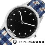 ハイパーグランド腕時計[HYPERGRAND時計]ハイパーグランド時計[HYPERGRAND腕時計][ハイパーグラウンド]ゼロワンナトー01NATOレディース/ブラックNWH2TART[人気/新作/ブランド/ナイロンベルト/シルバー/ブルー/シンプル/デザイナーズウォッチ][送料無料]