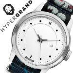 ハイパーグランド腕時計[HYPERGRAND時計]ハイパーグランド時計[HYPERGRAND腕時計][ハイパーグラウンド]マーベリックシリーズナトーMAVERICKSERIESNATOメンズ/レディース/ホワイトNWM4AVAL[人気/ブランド/ナイロンベルト/シルバー/おしゃれ][送料無料]
