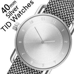 【5年保証対象】[ティッドウォッチズ]ティッドウォッチ腕時計[TIDWatches時計]ティッドウォッチ時計[TIDWatches腕時計]クヴァドラKvadratメンズ/レディースTID02-SV40-GRANITE[No.2/通販/新作/インスタ/北欧/シンプル/革/レザーベルト/シルバー][送料無料]