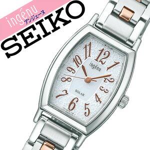 【5年保証対象】セイコーアルバアンジェーヌ腕時計[SEIKOALBAingene時計]セイコーアルバアンジェーヌ時計[SEIKOALBAingene腕時計]レディース/ホワイトAHJD052[メタルベルト/ソーラー/シンプル/シルバー/ローズゴールド/ピンクゴールド][送料無料]