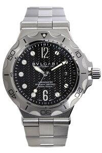 ブルガリ腕時計[BVLGARI時計]ブルガリ時計[BVLGARI腕時計]ディアゴノプロフェッショナルスクーバアクアDIAGONOProfessionalScubaAquaメンズ/ブラックDP42BSSDSD[メタルベルト/機械式/自動巻/メカニカル/スイス/シルバー/スポーツ/防水/ダイバー][送料無料]