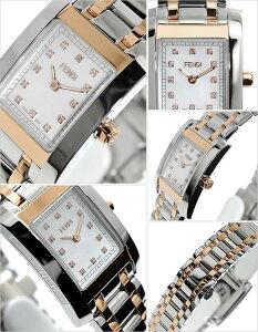 フェンディ腕時計[FENDI時計]フェンディ時計[FENDI腕時計]フェンディ腕時計クラシコClassicoレディース/ホワイトF702240D[メタルベルト/シルバー/ホワイトシェル/ローズゴールド/スイス/スクエア/クリスタル/ストーン/大人かわいい/高級/ブランド][送料無料]