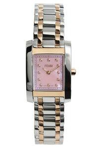 フェンディ腕時計[FENDI時計]フェンディ時計[FENDI腕時計]フェンディ腕時計クラシコClassicoレディース/ピンクF702270D[メタルベルト/シルバー/ピンクシェル/ローズゴールド/スイス/スクエア/クリスタル/ストーン/大人かわいい/高級/ブランド][送料無料]