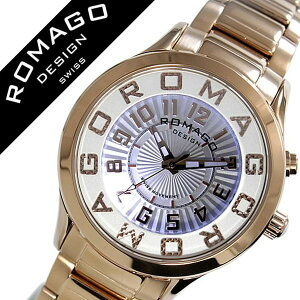 ロマゴ腕時計[ROMAGO時計]ロマゴデザイン時計[ROMAGODESIGN腕時計]ロマゴデザインROMAGODESIGNアトラクションATTRACTIONメンズ/レディース/ホワイトRM067-0162SS-RG[おしゃれ/デザイン/文字盤光る/ブランド/個性派/メタルベルト/ピンクゴールド][送料無料]