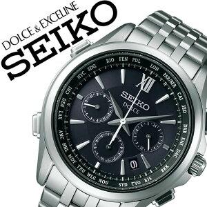 【5年保証対象】セイコードルチェエクセリーヌ腕時計[DOLCEEXCELINE時計]ドルチェ&エクセリーヌ時計[DOLCE&EXCELINE腕時計]フライトエキスパートFLIGHTEXPERTメンズ/ブルーSADA037[ドルチェ/メタルベルト/大人/電波時計/ソーラー][送料無料]