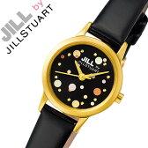 【5年保証対象】ジルバイジルスチュアート 腕時計[ JILL BY JILL STUART 時計 ]ジル バイ ジルスチュアート 時計[ JILLSTUART 腕時計 ]ジルスチュアート腕時計 ジルスチュアート時計 ラブ ドット LOVE DOT レディース/ブラック SILDAD01 [人気/かわいい/アクセ][送料無料]