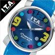 【5年保証対象】アイティーエー 腕時計 [ I.T.A 時計 ]アイティーエー 時計[ I.T.A 腕時計 ](ITA) ITA腕時計 ITA時計 カサノバ ビーチ ミディ CASANOVA BEACH Midi メンズ/レディース/ブルー[ラバー ベルト/クロコ/クオーツ/シルバー/ブルー/マルチカラー][送料無料]