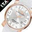 【5年保証対象】アイティーエー 腕時計 [ I.T.A 時計 ]アイティーエー 時計[ I.T.A 腕時計 ](ITA) ITA腕時計 ITA時計 カサノバ ビーチ ミディ CASANOVA BEACH Midi メンズ/レディース/シルバー[ラバー ベルト/クロコ/クオーツ/ローズゴールド/ホワイト][送料無料]