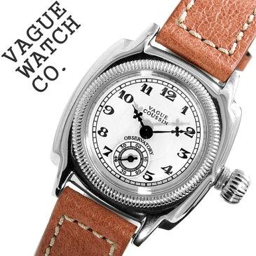 ヴァーグウォッチ 腕時計 [VAGUE WATCH Co.時計]( VAGUE WATCH Co. 腕時計 ヴァーグ ウォッチ コー 時計 ) クッサン ( COUSSIN ) レディース 腕時計 ホワイト CO-S-001 [正規品 人気 流行 ブランド 防水 レザー 革 ブラウン シルバー][バーゲン プレゼント ギフト]