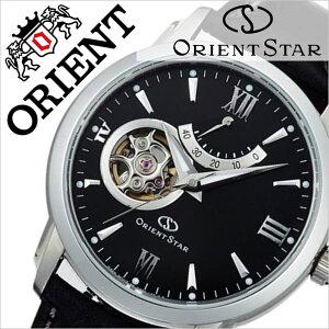 オリエント腕時計[ORIENT時計]オリエント腕時計オリエント時計ORIENT腕時計オリエントスターセミスケルトンOrientStarSemiSkeletonメンズ/ブラックWZ0221DA[人気/ブランド/革ベルト/機械式/自動巻き/メカニカル/オリエントスター/ブラック][送料無料]