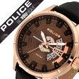 【5年保証対象】ポリス 腕時計 [ POLICE 腕時計 ] ポリス 時計 [ POLICE 時計 ] ポリス腕時計 [ POLICE腕時計 ] ポリス時計 [ POLICE時計 ]マレット MALLET メンズ/ブラウン 14678JSR-12 [革ベルト/防水/人気/ブランド/ゴールド/ピンクゴールド/ギフト/プレゼント][送料無料]
