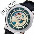 ブローバ 腕時計[ BULOVA 時計 ]ブローバ 時計[ BULOVA 腕時計 ]アキュトロン ACCUTRON 2 メンズ/ゴールド 96A155 [アメリカ/アメリカンブランド/人気/ブランド/レア/革 ベルト/ブラック/シルバー/グリーン][送料無料]