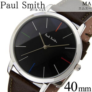 ポールスミス腕時計[PaulSmith時計]ポールスミス時計[PaulSmith腕時計]ポールスミス腕時計エムエーMAメンズ/レディース/ブラックP10052[革ベルト/シルバー/新作/人気/ブランド/ビジネス/シンプル/プレゼント/ギフト][送料無料]