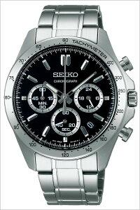 【5年保証対象】セイコー腕時計[SEIKO時計]SEIKOSPIRIT腕時計[セイコースピリット時計]メンズ/ブラックSBTR013[メタルベルト/クロノグラフ/シルバー][プレゼント/ギフト][送料無料]
