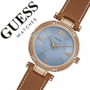 ゲス 腕時計 [GUESS時計]( GUESS 腕時計 ゲス 時計 ) パーク アベ サウス ( PARK AVE SOUTH ) レディース 腕時計 ブルー W0838L2 [レザー ベルト 正規品 新作 ファッション ウォッチ カジュアル スカイブルー ローズゴールド][バーゲン プレゼント ギフト][おしゃれ]