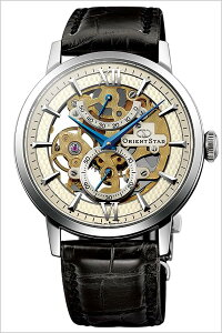【5年保証対象】オリエント腕時計[ORIENT時計]オリエントオリエントスター時計[ORIENTORIENTSTAR腕時計]スケルトンORIENTSTARSKELETONメンズ/シルバーWZ0041DX[革ベルト/機械式/メカニカル/アンティークシルバー/ブラック][プレゼント/ギフト][送料無料]