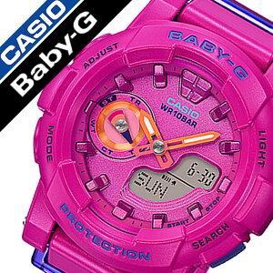 【延長保証対象】カシオ腕時計[CASIO時計]カシオ時計[CASIO腕時計]ベビージーBABY-Gレディース/マルチカラーCASIO-BGA-185FS-4AJF[正規品/ベビーG/人気/かわいい/女子/カジュアル/アウトドア/ウレタンラバーベルト/バンド/ピンク/マルチカラー][送料無料]