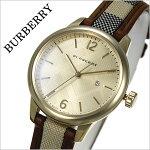 バーバリー時計[BURBERRY腕時計]バーバリーロンドン腕時計[BURBERRYLONDON時計]レディース/ゴールドBU10114[おすすめ/ブランド/プレゼント/ギフト/おしゃれ/オシャレ/レザー/革/キャンバス/チェック柄][送料無料]