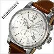 バーバリー 時計[BURBERRY 腕時計]バーバリー ロンドン 腕時計[BURBERRY LONDON 時計] メンズ/ホワイト BU7817 [おすすめ/ブランド/プレゼント/ギフト/おしゃれ/オシャレ/レザー/革/クロノグラフ/ブラウン][送料無料]