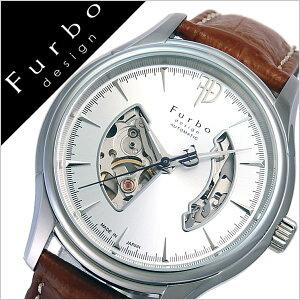フルボデザイン腕時計[Furbodesign時計]フルボデザイン時計[Furbodesign腕時計]メンズ/シルバーF5025NSIBR[革ベルト/正規品/機械式/自動巻/メカニカル/おしゃれ/オートマチック/オープンハート/ブラウン][送料無料]