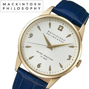 【5年保証対象】マッキントッシュフィロソフィー腕時計[MACKINTOSHPHILOSOPHY時計]マッキントッシュフィロソフィー時計[MACKINTOSHPHILOSOPHY腕時計]メンズ/アイボリーFCZK701[革ベルト/正規品/防水/SEIKO/限定400本/ブルー/ゴールド/クリーム][送料無料]