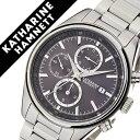 キャサリンハムネット腕時計 KATHARINE HAMNETT 腕時計 キャサリン ハムネット 時計 クロノグラフ 7 CHRONOGRAPH VII メンズ パープルグレー KH20C9-B24 [正規品 人気 新作 ブランド トレンド おすすめ 高級 イギリス アンティーク ファッション メタル ベルト]