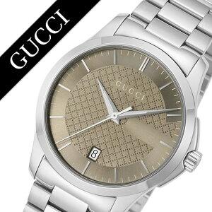グッチ腕時計[GUCCI時計]グッチ時計[GUCCI腕時計]GタイムレスGTimelessメンズ/ブラウンYA126445[人気/ブランド/防水/高級/プレゼント/ギフト/メタルベルト/シルバー][送料無料]