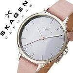 スカーゲン腕時計[SKAGEN時計]スカーゲン時計[SKAGEN腕時計]アニタANITAレディース/グレーSKW2411[人気/ブランド/防水/薄型/革/レザーベルト/ピンク/シンプル/北欧][送料無料]
