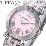 ティファニー腕時計[Tiffany&Co.時計]ティファニー時計[Tiffany&Co.腕時計]アトラスATLASレディース/ピンクZ1300-11-11A31A00A[人気/高級/ブランド/シルバー/メタル/セラミック/スイス/クオーツ][送料無料]