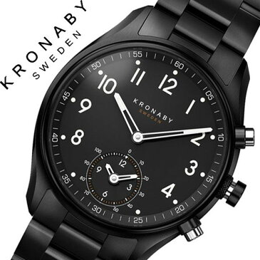クロナビー 腕時計 KRONABY 時計 クロナビー 時計 KRONABY 腕時計 アペックス APEX メンズ ブラック A1000-1909 正規品 北欧 スマホ ミニマル スマートウォッチ ラウンド アプリ カレンダー GPS ハイスペック ブルートゥース ビジネス シンプル 送料無料