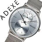 アデクス腕時計 ADEXE時計 ADEXE 腕時計 アデクス 時計 グランデ GRANDE メンズ シルバー 1868C-05 [ギフト バーゲン プレゼント 新春初売][人気 話題][おしゃれ シンプル 腕時計][ 入学祝い 卒業祝い ]