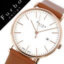 フルボデザイン腕時計 Furbo design 腕時計 フルボ デザイン 時計 メンズ ホワイト F02-PIVLB [正規品 イタリア スタイル 人気 定番 スーツ ビジネス フォーマル ファッション おしゃれ シンプル デザイン レザー カレンダー ブラウン プレゼント ギフト]