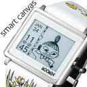 エプソン スマートキャンバス 時計 EPSON Smart Canvas 腕時計 ムーミン キャラクター リトルミイ イエロー MOOMIN Character ユニセックス レディース W1-MM10310[正規品 かわいい おしゃれ デジタル スクエア 北欧 コミック ホワイト イエロー ムーミン プレゼント]