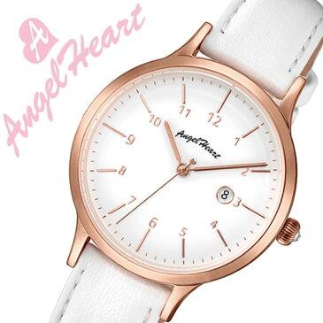 エンジェルハート 腕時計 Angel Heart 時計パステルハート Pastel Heart レディース ホワイト PH32P-WH[正規品 人気 ブランド ファッション カジュアル おしゃれ スーツ ビジネス かわいい 上品 華やか スワロフスキー 革 レザー プレゼント ギフト]