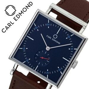 [当日出荷] カールエドモンド 腕時計 CARLEDMOND 時計 カール エドモンド CARL EDMOND グラニット Granit メンズ レディース ブルー CEG3454-RB21 [ 人気 ブランド 北欧 デザイン ミニマル 革ベルト ペアウォッチ スモールセコンド スクエア型 四角 個性的 ファッション ]