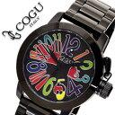 コグ 腕時計 COGU 時計 コグ 時計 COGU 腕時計 コグ腕時計 cogu時計 コグ時計 cogu腕時計 ブラックアウト & マルチカラー メンズ ブラックIP 送料無料 中学生 高校生 大学生 [ クリスマス プレゼント ギフト ]
